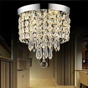 Image 5 - AC110V 240V Led Crystal Chandelier Ceiling Lamp Plafon Lustre For Entrance Kitchen lights Chandeliers Fixtures Home Decor