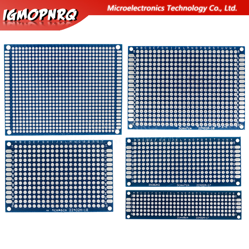 1pcs Double-Sided Protoboard Breadboard Universal Board 2*8cm 3*7cm 4*6cm 5*7cm 7*9cm 2.54mm