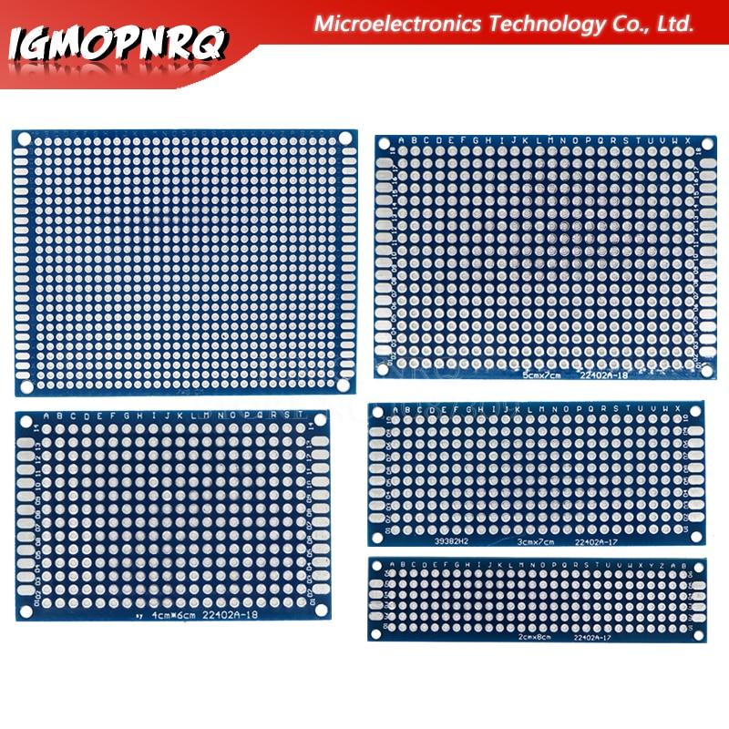 1pcs Double-Sided Protoboard Breadboard Universal Board 2*8cm 3*7cm 4*6cm 5*7cm 7*9cm 2.54mm(China)