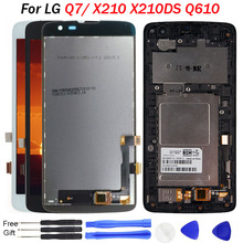 For LG Q7 LCD Display X210 X210DS Q610 Q610YB LM-Q610YB Touch Screen Digitizer Assembly Black White With Frame tools