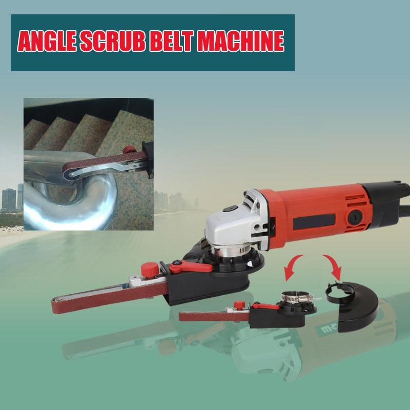 Angle Grinder Mini DIY Sander Sanding Belt Adapter Grinding Machine Bandfile Belt Head Sander For 115mm 4.5