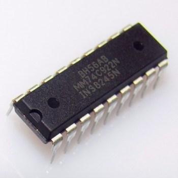 5PCS IC MM74C922N MM74C922 FSC ENCODER 16-KEY DIP-18 NEW