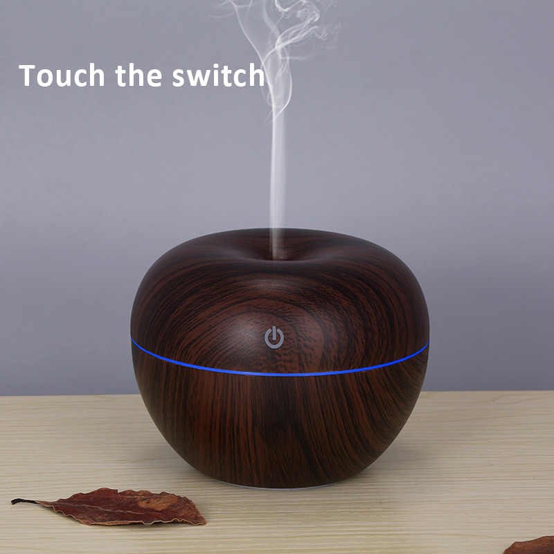 130ML Ultrasonic Air Humidifier Essential Oil Diffuser Aroma Diffuser น้ำมันหอมระเหย 7 เปลี่ยนสีโคมไฟ Mist Maker