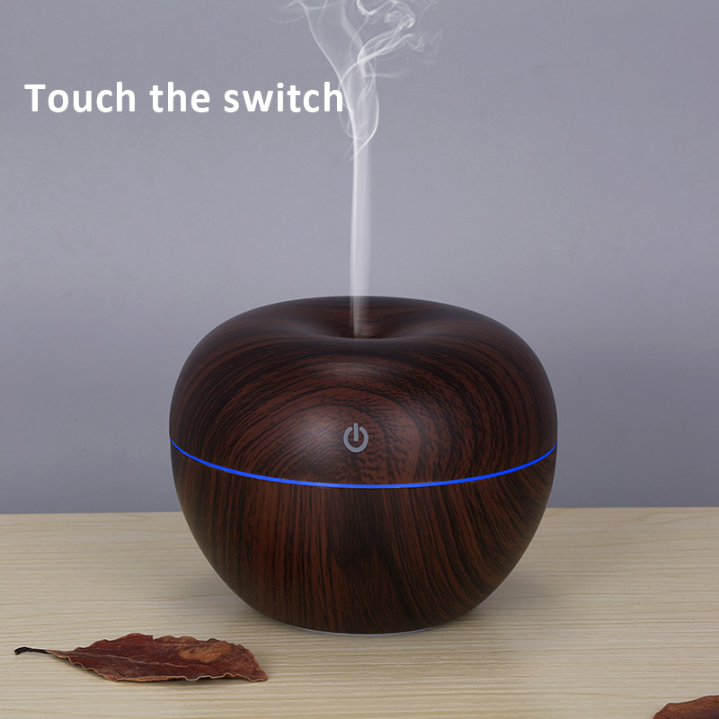 130ML Ultrasonic Air Humidifier Essential Oil Diffuser Electric Aroma Diffuser Aromatherapy 7 Changing Colors Lamp Mist Maker