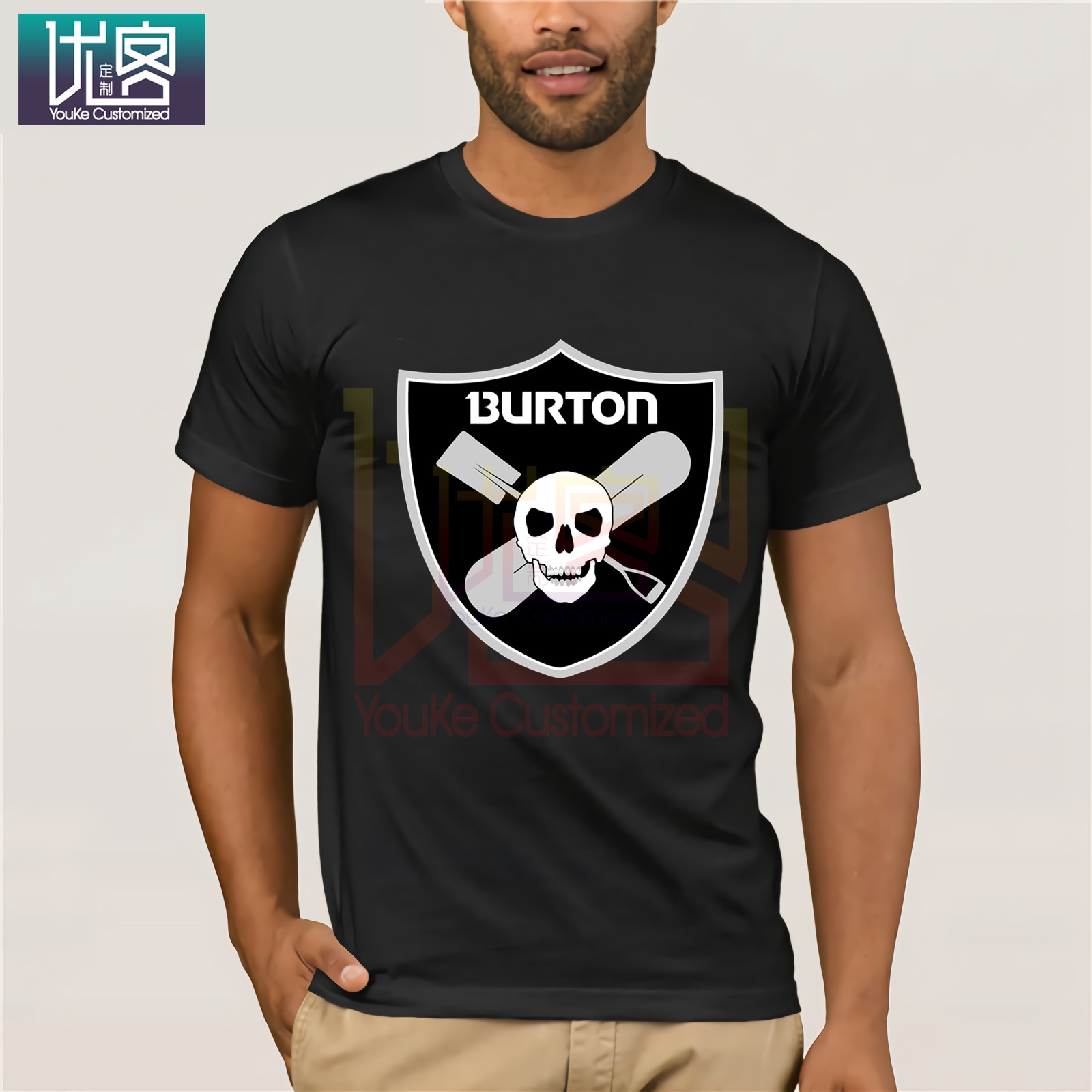 Burton Arrow Logo Snowboards T Shirt Cartoon Tee Shirt Homme Top Tees Men Cool 2020 Fashion Funny Tees Cotton Tops T Shirt