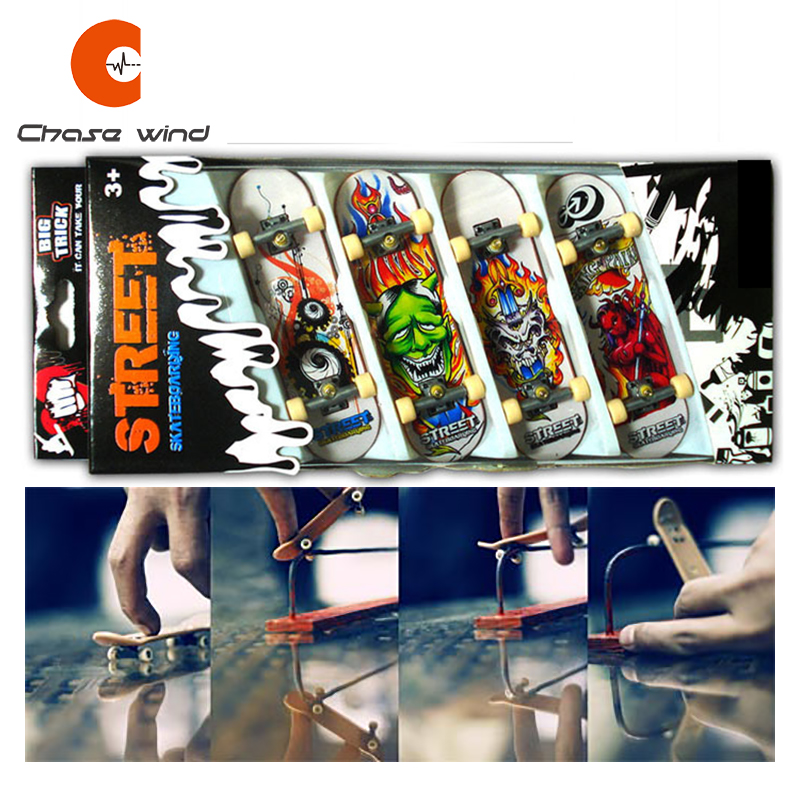 4 PCS Fingerboard Finger Skateboard Alloy Bracket Double Rocker Gift For Extreme Sports Enthusiasts Suitable For All Age