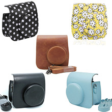 Besegad Schulter Tasche Fall Carry Lagerung Pouch für Polaroid Fujifilm Fuji Instax Mini 8 9 Mini8 Mini9 Instant Kamera capa funda