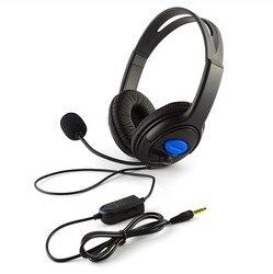 Проводная игровая гарнитура, наушники с микрофоном для PS4, ПК, ноутбука, телефона, модные наушники для игроков