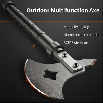 Outdoor Multifunction Axe Fire Ice Army High Carbon Steel Tactical Tomahawk Practical Axe Aluminum Alloy Handle Camping Hatchet high quality sog tactical tomahawk army outdoor hunting camping survival machete axes hand tool fire axe hatchet tomahawk axe d