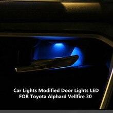 2PCS FOR Toyota Alphard Vellfire 30 interior lights atmosphere lights headlights modified door lights LED 5000K 9W