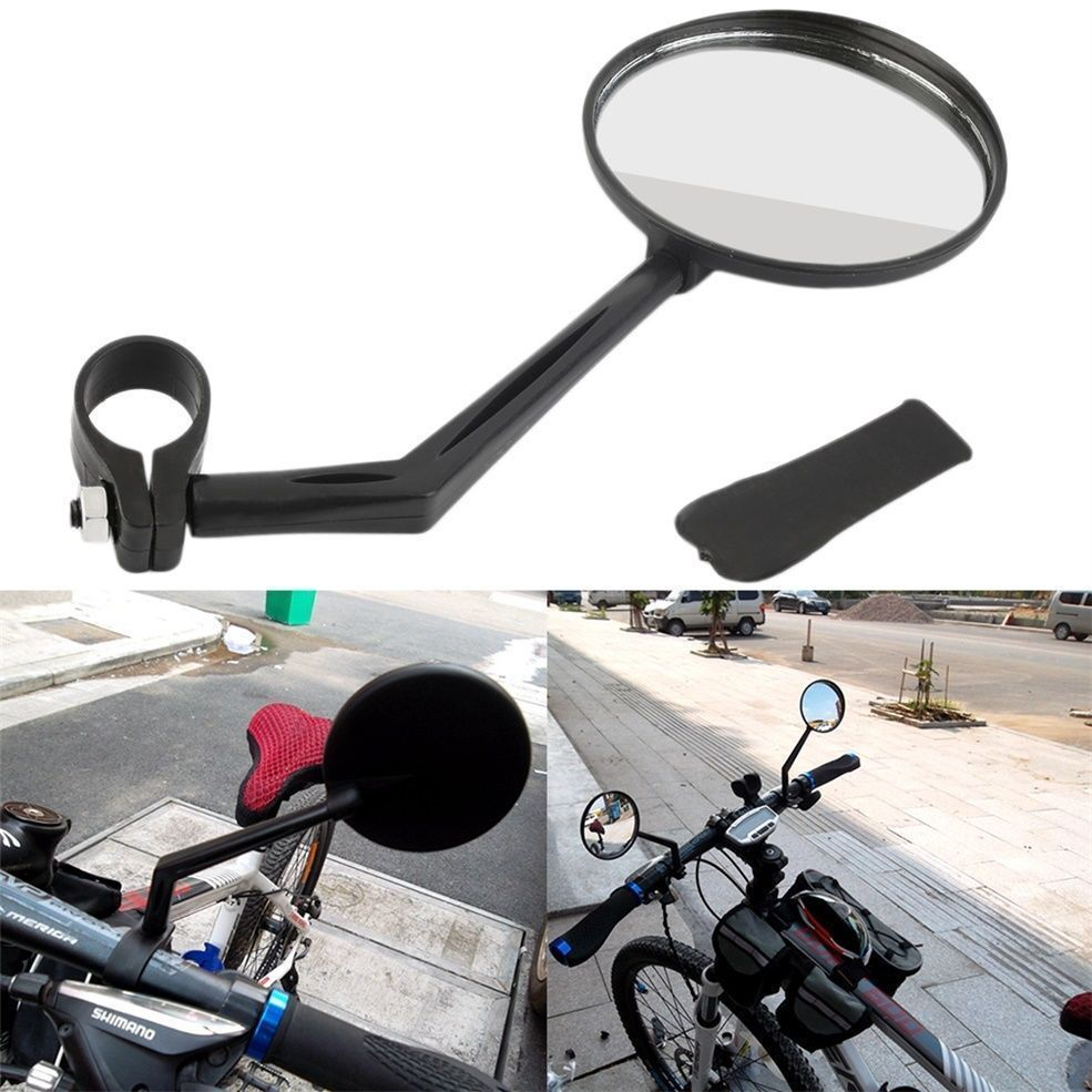 1pc Cycling Bike Bicycle Handlebar Flexible Safe Rear View Rearview Mirror Compact design high-strength ABS bike accessories
