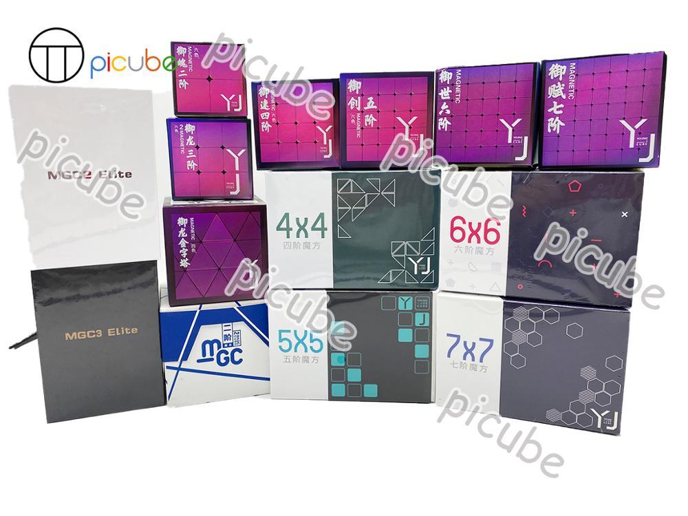 [Picube] куб yongjun YJ MGC серии YuPo YuLong YuSu YuChuang woo YuFu 3x3 2x2 4x4, 5x5, 6x6 7x7 Магнитные Головоломки магниты Пирамида куб