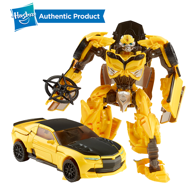 Hasbro Transformers The Last Knight Premier Edition Deluxe Bumblebee Action Figure One Step Changer Kid Toys