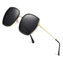AOFLY ماركة الاستقطاب النظارات الشمسية السيدات عدسات عاكسة الفاخرة الإناث مصمم المتضخم مربع نظارات شمسية للنساء حملق UV400