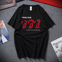 The Police Ghost in the Machine T Shirt Mens Licensed Rock N Roll Band Tee Top Fashion Camiseta masculina 100% Cotton T-shirts