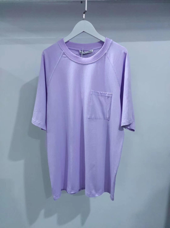 2020 AC Studios Summer New Fashion Women T Shirts Cotton Chiara Ferragni Sequins Acne Style Men T-Shirts 2