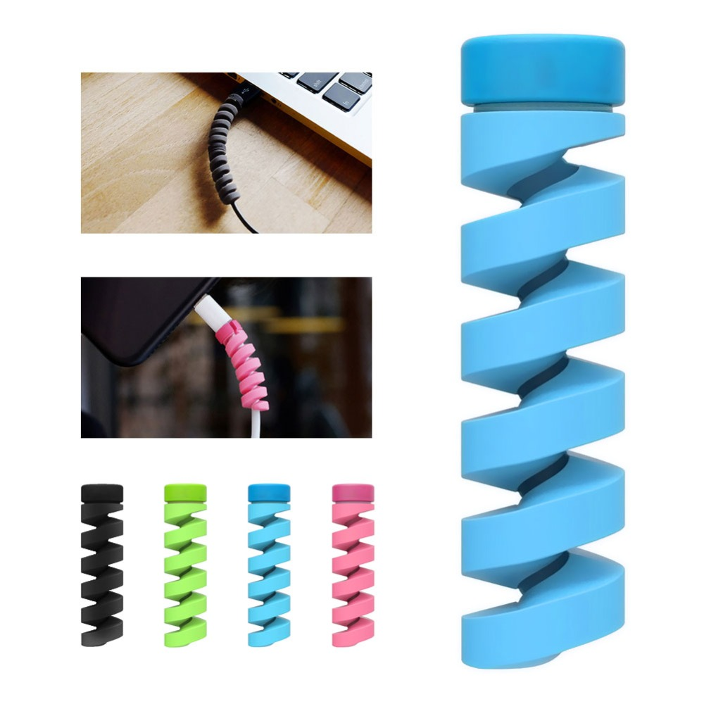 1610pcs Plastic Cable Organizer Protector Bobbin Winder Data Line Rope Protection Spring Twine For Phone USB Earphone Cover (5)