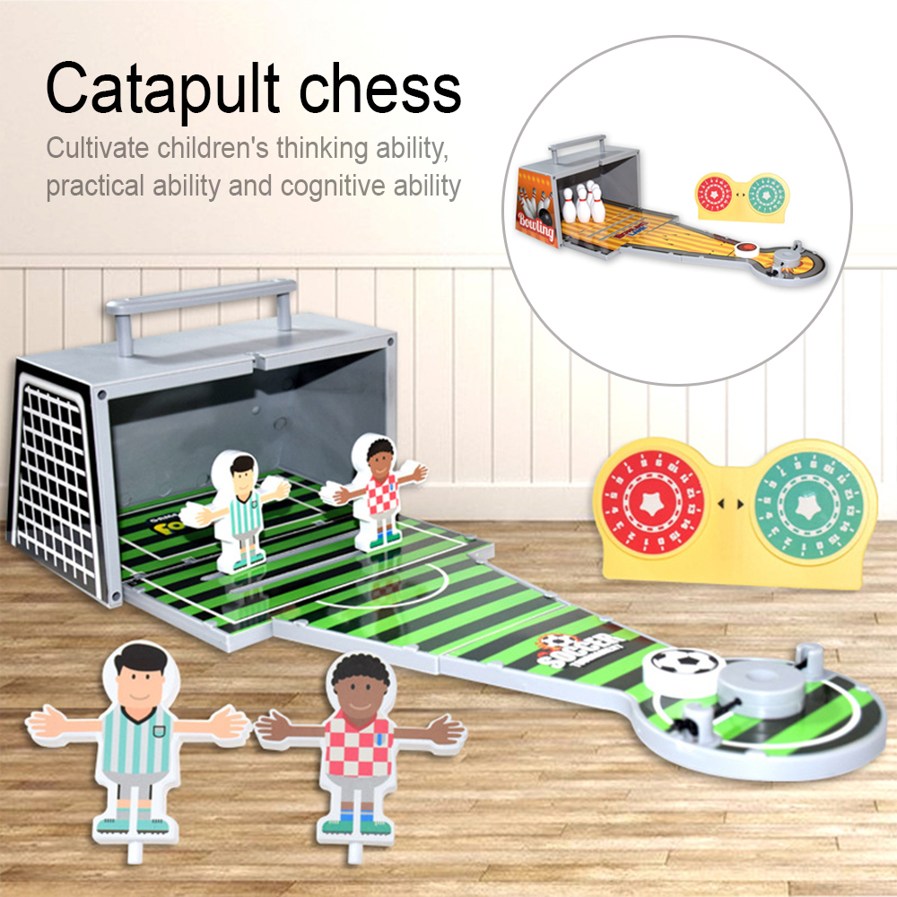 Foldable Bowling Toy Set Educatief Speelgoed Kinderen Desktop Mini Bowling/Football Game Parent-Child Interactive Table game