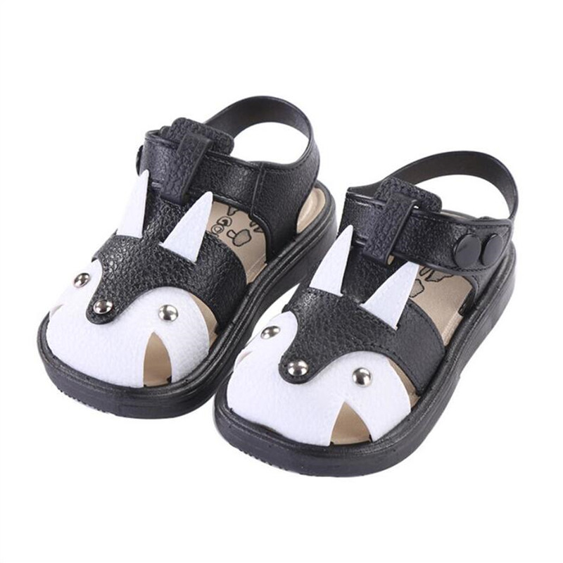2019 New Summer Shoes for Boys and Girls Sandals 1-3 Years Old Waterproof Non-slip Soft Soles Baotou for Children Sandals