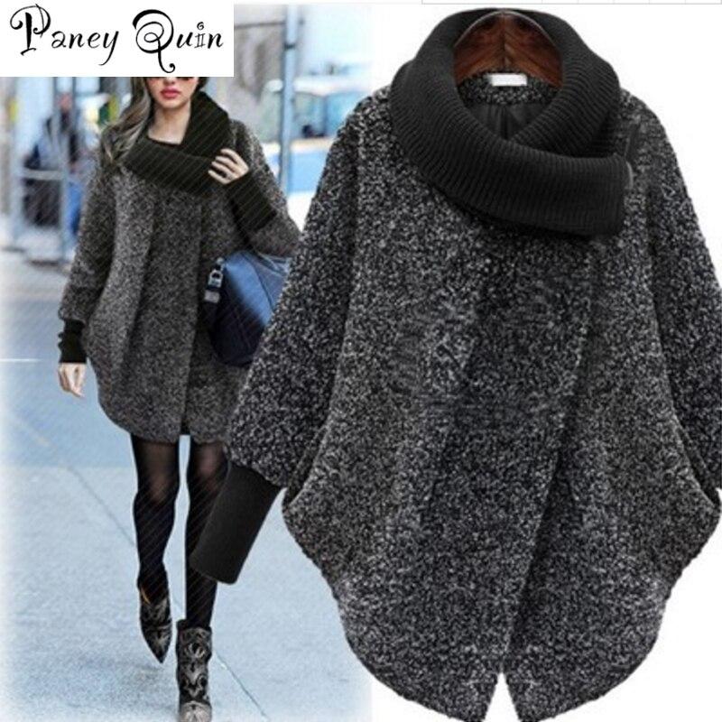 Veste d'hiver femmes grande taille nouveau col haut femmes couleur unie manteau à manches longues laine manteau femmes veste hiver parka