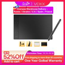 """لوح رسم رسومات VEIKK A30 مع قلم خالٍ من البطارية 8192 مستوى 10 """"x 6"""" ملحقات كمبيوتر المنطقة النشطة"""