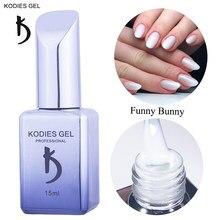 KODIES GEL NEUE Gel Nagellack Funny Bunny Gele 15ML UV Semi Permenent Vernis Lack Milchig Weiß Opal Gelee nägel Für Maniküre