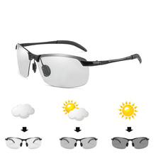 Photochromic Sunglasses Men brand design Polarized Chameleon Discoloration Sun glasses for men  Driving Anti-glare Goggles