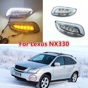 Car LED DRL Fog Light Lamp for Lexus RX330 RX350 2003 -2009 Daylight Headlight with Signal Waterproof