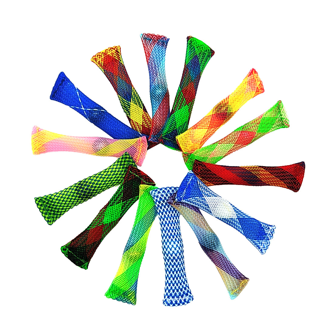Fidgets Toy Net-Tube Glass-Ball Marble Mesh Decompression Hand-Sensory Anti-Stress Relief img3