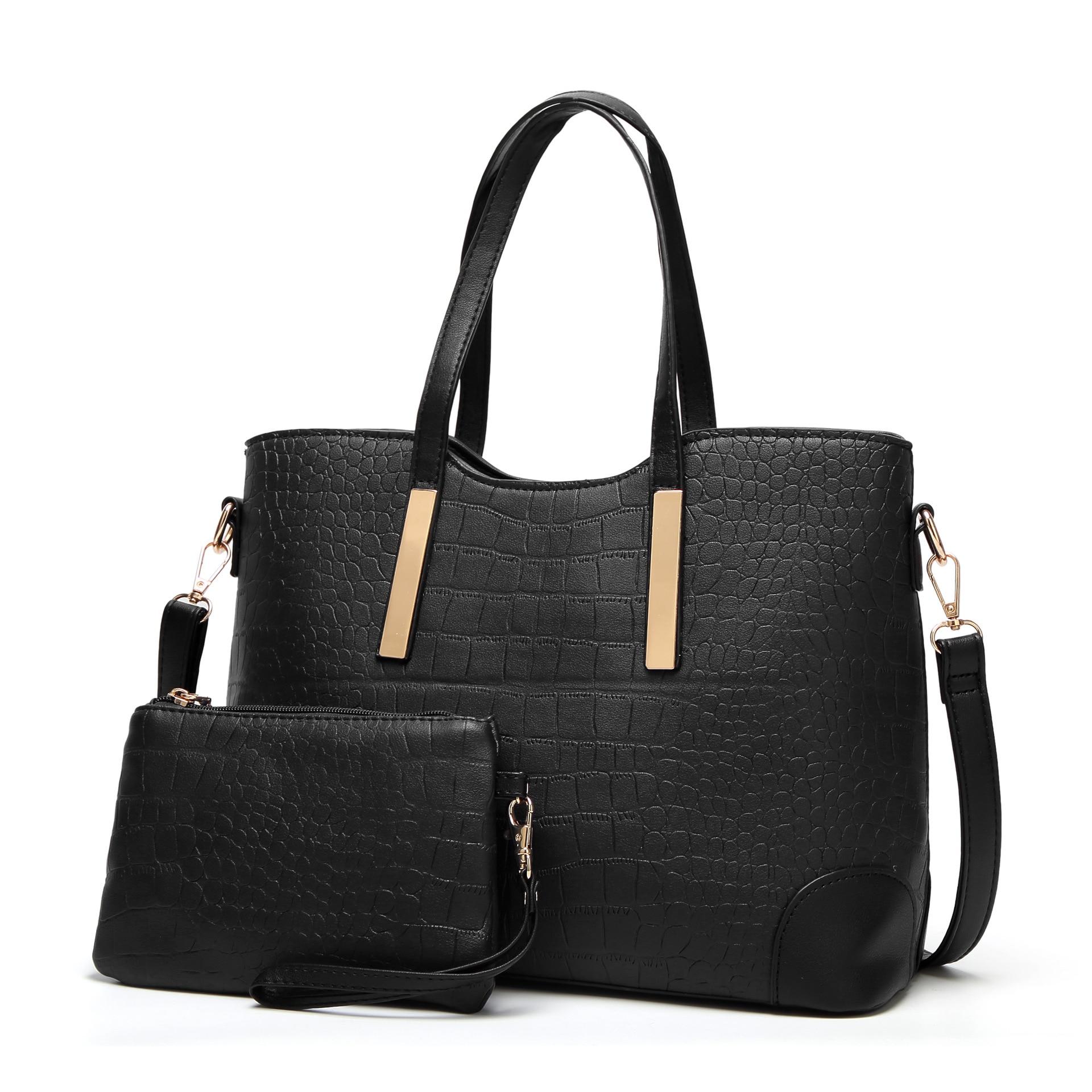 Women's Bag Embossed Crocodile-Pattern Boutique Shoulder Portable Fashion Diagonal