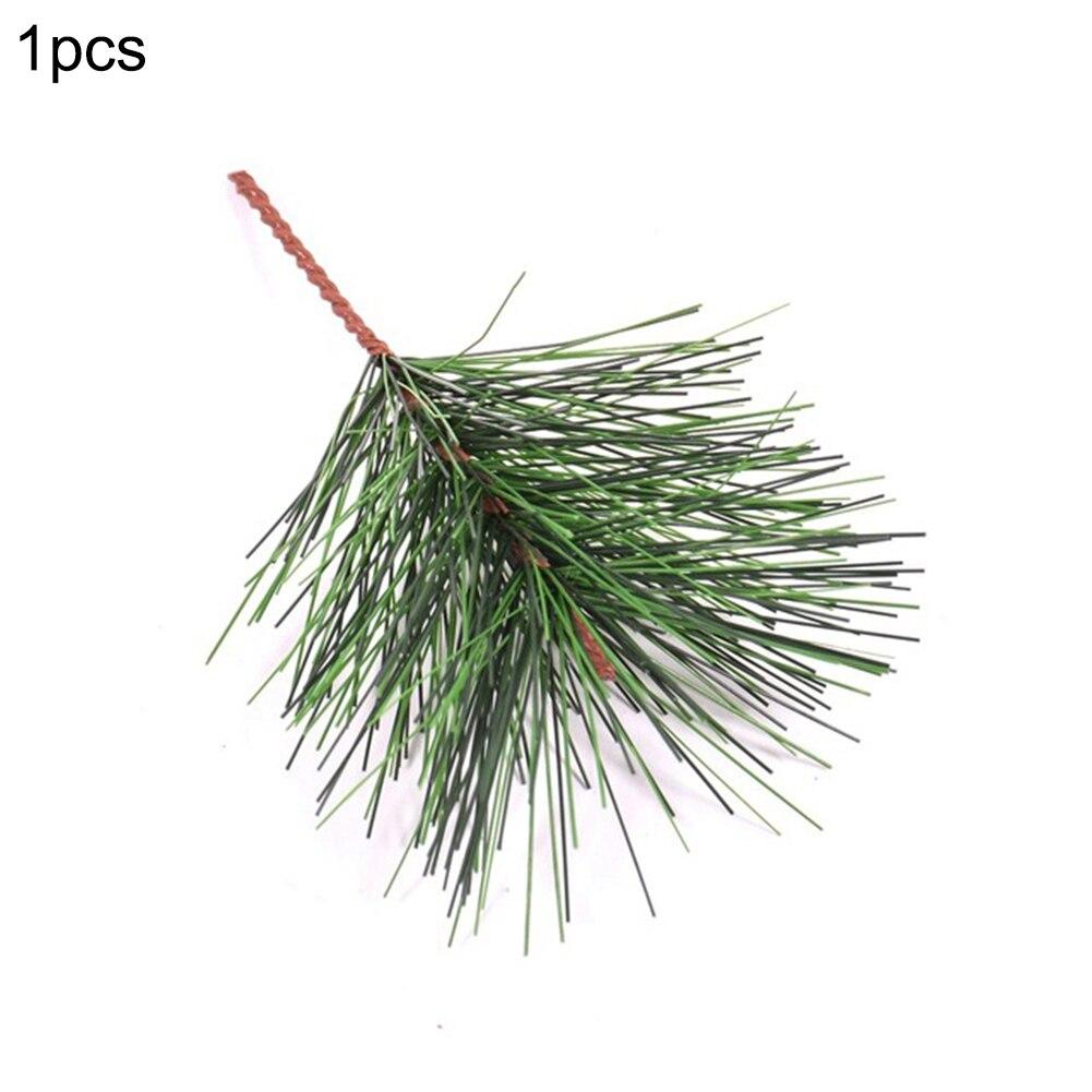 1/10PCS Kunstmatige Groen Dennennaald voor Bruiloft Kerst Decoratie DIY Craft Gift Xmas Tree Decor