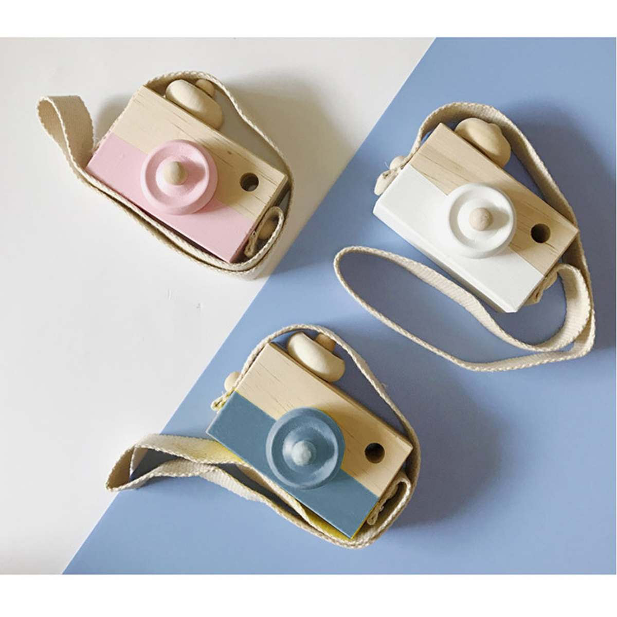Wooden Camera Cute Camera Toys Kids Hanging Camera Photo Prop Decoration For Children Birthday Christmas Gifts Toy