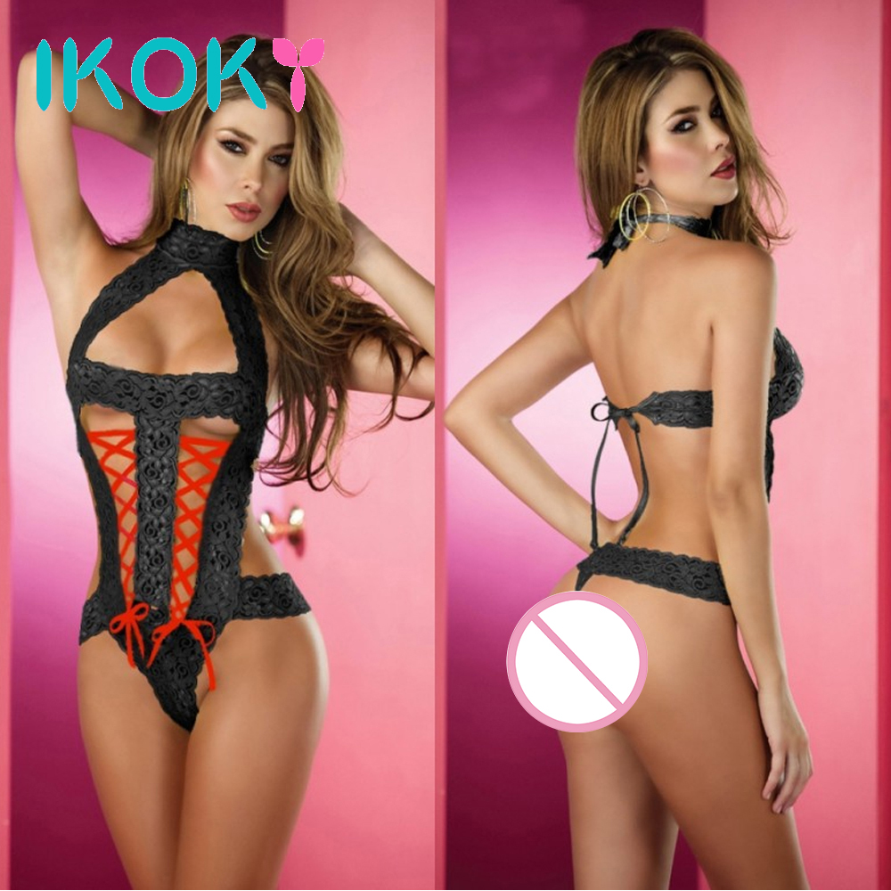 IKOKY Hot Erotic Lingerie Open Crotch Costumes Sex Toys For Women Women Teddies Bodysuits Sexy Lingerie Porn Sexy Underwear