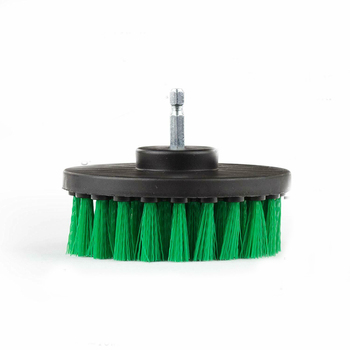 Green Color 5 inch Drill Brush car Cleaning Tool For Home Carpet Leather Free shipping