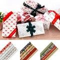 6pcs Impresso Embalagem de Presente do Ofício de Papel Tissue Flor de Papel de Embrulho Rolo Vinho Camisa Roupas Embalagem Papel De Embrulho De Natal