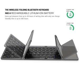 Image 5 - Avatto B033 Mini Opvouwbare Toetsenbord Bluetooth 5.0 Opvouwbare Draadloze Toetsenbord Met Touchpad Voor Windows,Android,ios Tablet Ipad Telefoon