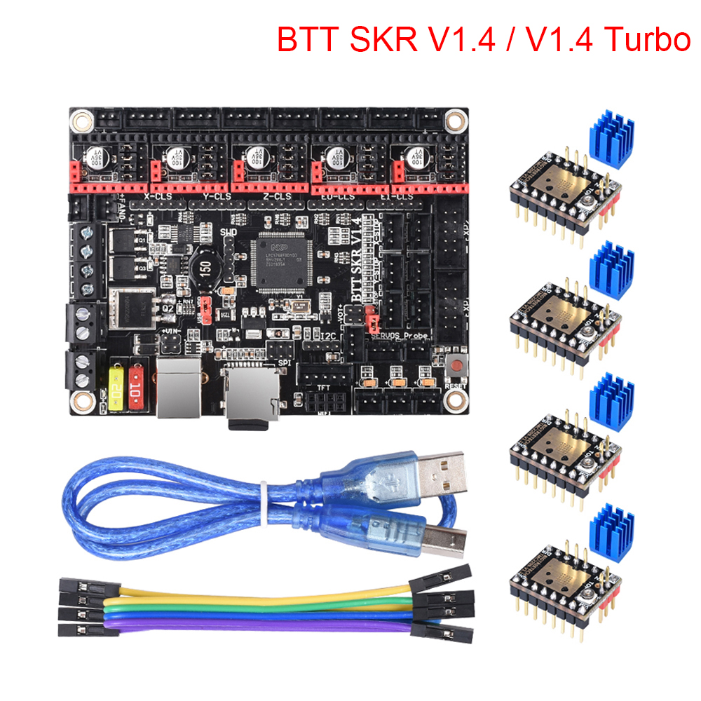 BIGTREETECH BTT SKR V1.4 SKR V1.4 Turbo 32 Bit Control Board Upgrade SKR V1.3 Support WIFI TMC2209 TMC2208 UART 3d Printer Parts