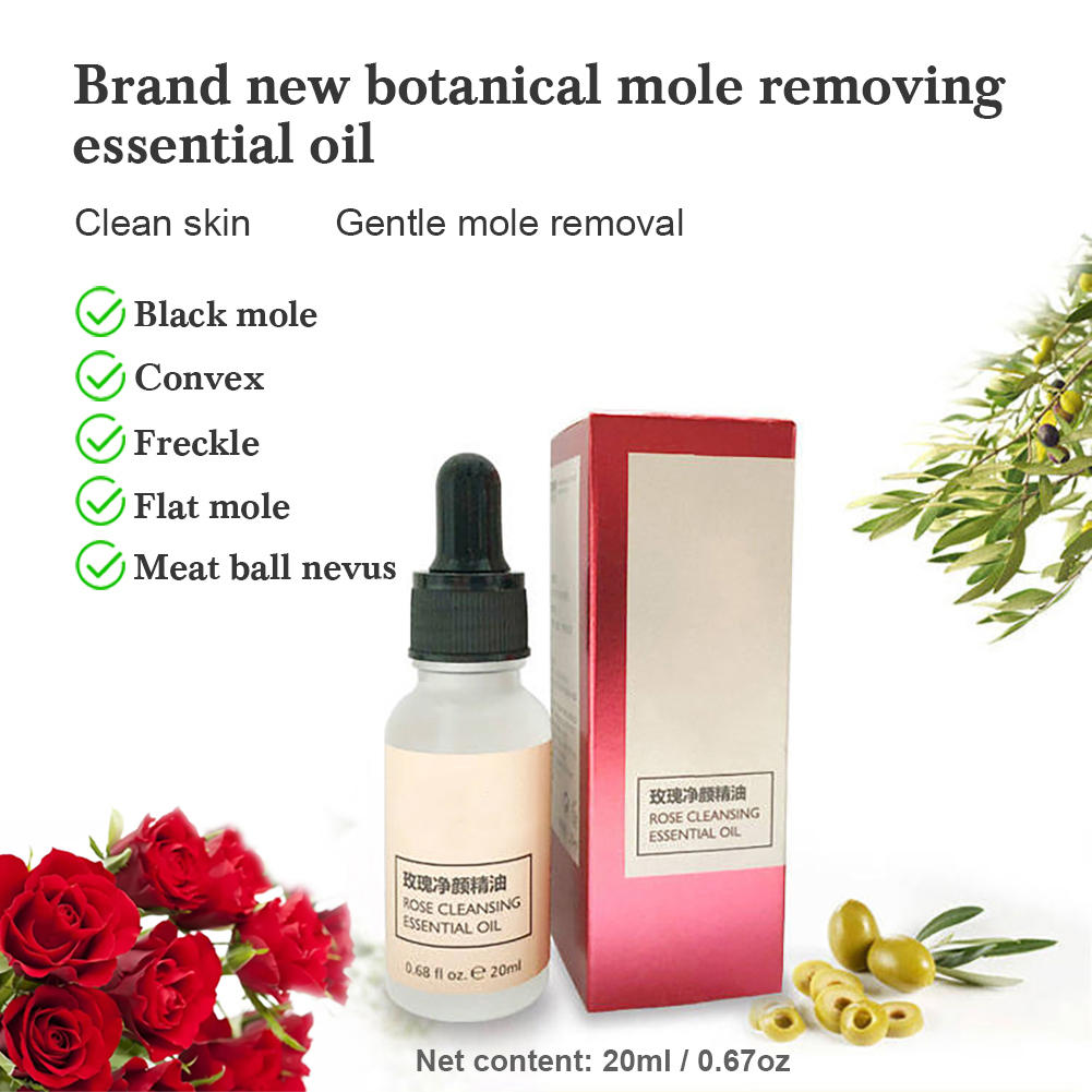 20ML Rose Essential Oil Skin Tag Removal Remove Moles And Repair ...