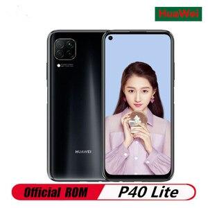 Международная версия HuaWei P40 Lite мобильный телефон Kirin 810 Android 10,0 6,4 дюйма 2310x1080 6 Гб RAM 128 ГБ ROM 48.0MP отпечаток пальца