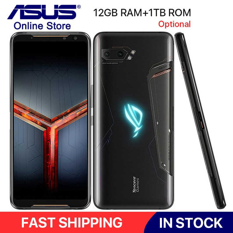 """Toàn Cầu Rom ASUS ROG Điện Thoại II ZS660KL 6.59 """"RAM 12GB 1TB Rom Snapdragon 855 Plus 6000 MAh 48MP NFC Android 9.0 ROG Chơi Game Điện Thoại 2"""