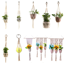 Flower-Pot Hanger Plant-Holder Wall-Decoration Garden 100%Handmade for Countyard