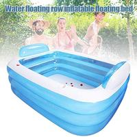 Portable Inflatable Swimming Pool Rectangular 3 Ring Thickened PVC Material for Family Kids Adult Garden Outdoor Pool