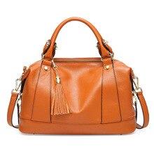 Модная сумка Boston, Большая вместительная классическая сумка-мессенджер, Женская Ретро кожаная сумка Boston, женская сумка
