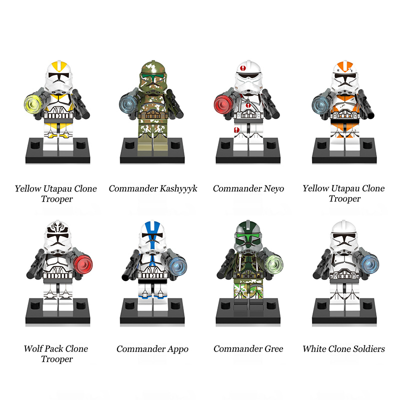 DIY Mini Star Wars Imperial Stormtrooper Clone Troopers Assembly Model Building Blocks For Children's Christmas Birthday Gifts