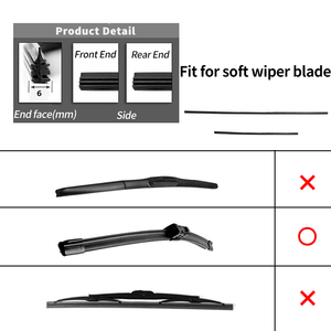 Image 5 - 2Pairs Universal Car Wiper Blade Refill Natural Silicone Rubber Windscreen Windshield High Quality Car Accessories