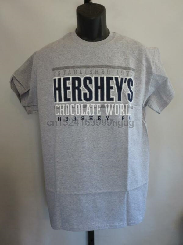 New Hershey'S Chocolate World Adult Sizes M-L-3Xl Gray Shirt image