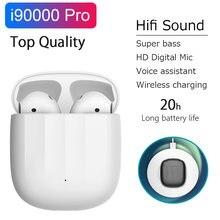 Nova i90000 pro tws air2 super bass fones de ouvido sem fio bluetooth alta fidelidade excelente som hd mic pk i10 i9000 tws