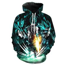 Japan dragon ball animation 3D digital print hooded fashion men and women hooded monkey 3D hooded children's hooded sweatshirt men american flags print hooded sweatshirt