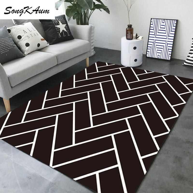 Оригинальные геометрические большие ковры SongKAum, европейские Простые Нескользящие татами, Настраиваемые коврики, домашний ковер для спальни
