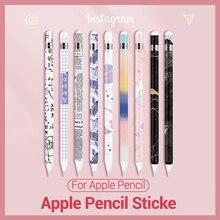 PZOZ устойчивый к царапинам ультра тонкие нарисованные наклейки для apple pencil 1 2 Стилус ручка цветная наклейка Нескользящая защитная бумага